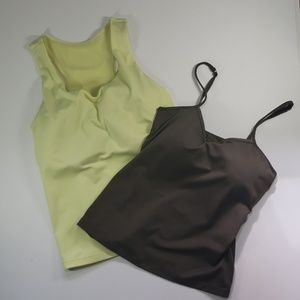 Athleta (2) Work Out Tops, Size 36DD.